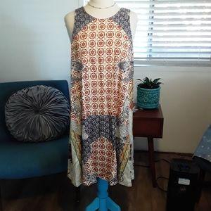 MSK Sleeveless Print Dress